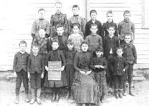There were a number of rural schools in the town of Lewiston. This was District No. Twelve taken in November 1891.